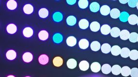 Estratto vago della sfuocatura del fondo delle luci di lampadine dell'esposizione di celebrazioni di festa di concetto delle deco stock footage