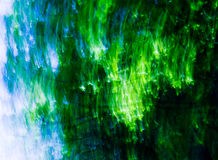 Estratto verde/blu di miscela Immagini Stock