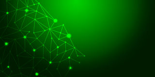 Estratto verde del fondo con le linee di illuminazione concetto digitale Immagine Stock Libera da Diritti