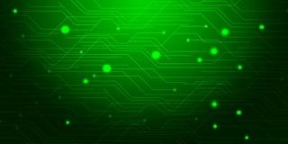 Estratto verde del fondo con le linee di illuminazione concetto digitale Fotografia Stock Libera da Diritti
