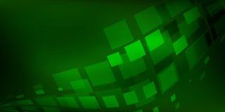 Estratto verde del fondo con le linee di illuminazione concetto digitale Immagini Stock