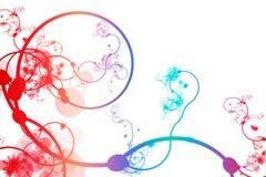 Estratto viola blu rosso che curva riga viti illustrazione vettoriale