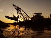 Estrazione della barca Fotografia Stock