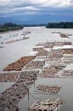 Estrazione di campioni dell'acqua Immagini Stock Libere da Diritti