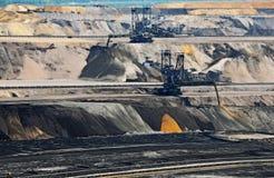 Estrazione mineraria aperta della lignite fotografia stock libera da diritti
