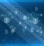 Estrazione mineraria Bitcoin Cryptocurrency intorno al mondo, crittografia Fotografia Stock