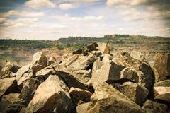 Estrazione mineraria del minerale di ferro Fotografia Stock
