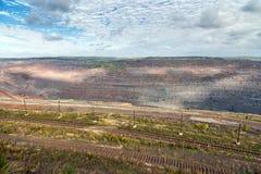 Estrazione mineraria del minerale di ferro Železnogorsk La Russia Fotografia Stock Libera da Diritti