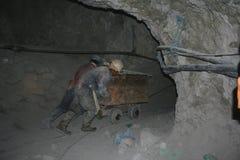 estrazione mineraria del pericolo Fotografia Stock Libera da Diritti