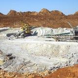 Estrazione mineraria dell'argilla Immagine Stock Libera da Diritti