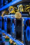 Estrazione mineraria dell'attrezzatura di Cryptocurrency Immagini Stock Libere da Diritti