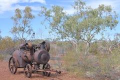 Estrazione mineraria della collina della batteria nel Territorio del Nord Australia dell'insenatura di Tennant fotografia stock