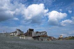 Estrazione mineraria della sabbia Immagine Stock Libera da Diritti
