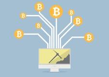Estrazione mineraria di Bitcoin Immagine Stock