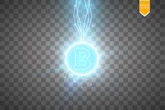 Estrazione mineraria di Bitcoin, illustrazione concettuale Fondi Digital Progettazione di massima del cryptocurrency Bitcoin del  Fotografia Stock