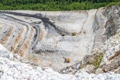 Estrazione mineraria, produzione della pietra schiacciata Immagine Stock Libera da Diritti