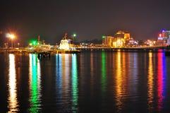 Estrecho colorido de Johor Foto de archivo libre de regalías