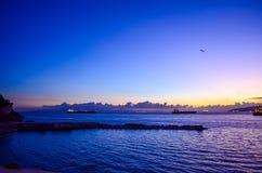 Estrecho de Gibraltar Foto de archivo libre de regalías