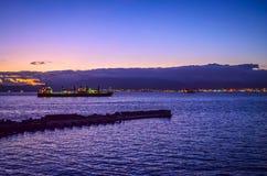 Estrecho de Gibraltar Imagenes de archivo