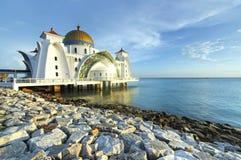 Estrechos mezquita, Malacca Imagen de archivo