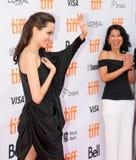 Estreia mundial do ` primeiramente mataram meu ` do pai com diretor Angelina Jolie no festival de cinema do International de Toro foto de stock royalty free