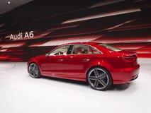 Estreia mundial nova de Audi A6 Fotografia de Stock