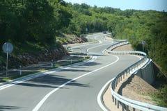 Estreito, estrada de enrolamento Imagem de Stock Royalty Free