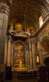 Estrela大教堂圣坛在里斯本,葡萄牙 库存照片