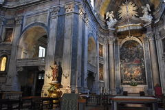 Estrela大教堂在里斯本,葡萄牙 免版税库存照片