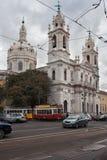 Estrela大教堂在里斯本 免版税库存照片