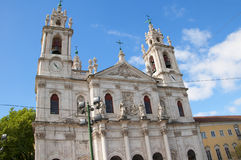 Estrela大教堂或皇家大教堂 库存照片