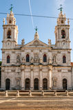 Estrela大教堂的门面在里斯本,葡萄牙的首都 图库摄影