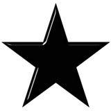 estrela 3D preta Imagem de Stock