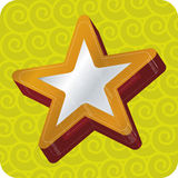 estrela 3d (vetor) Imagens de Stock