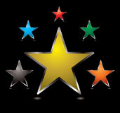 A estrela abotoa o centro Imagem de Stock
