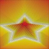 Estrela abstrata do fundo do vetor 3d Fotografia de Stock