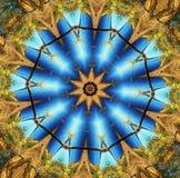 Estrela abstrata do multifinal com testes padrões. Imagem de Stock