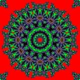 Estrela abstrata do multifinal com testes padrões. Foto de Stock Royalty Free