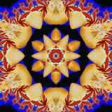 Estrela abstrata do multifinal com testes padrões. Fotografia de Stock Royalty Free