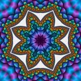Estrela acolchoada do compasso Fotos de Stock Royalty Free