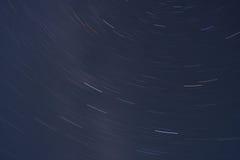 A estrela arrasta o espaço Fotos de Stock Royalty Free