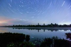 A estrela arrasta (Torrance Barrens Dark-Sky) Imagens de Stock Royalty Free