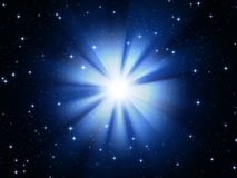 Estrela azul Fotos de Stock