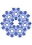 Estrela azul Fotografia de Stock