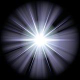 Estrela azul branca ilustração stock