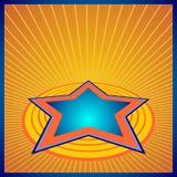 Estrela azul da luz da perspectiva Fotografia de Stock