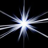 Estrela azul espectacular Fotos de Stock Royalty Free