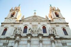 Estrela Basilica, lisbon. The exterior of Estrela Basilica, lisbon royalty free stock photo