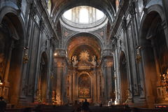 Estrela Basilica in Lisbon, Portugal. Construction started in 1779 and was finished in 1790, after the death of Jose caused by smallpox in 1788 royalty free stock image