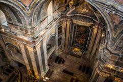 Estrela Basilica in Lisbon, Portugal. Inside view of Estrela Basilica in Lisbon, Portugal royalty free stock photography